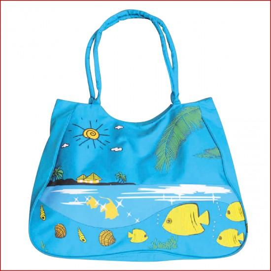 Плажна чанта - Светло синя