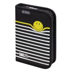 Пълен ученически несесер 19 части  SmileyWorld Black Stripes Herlitz 50015382