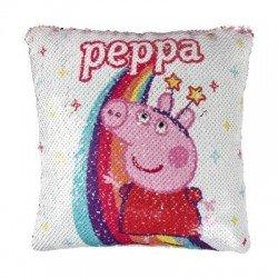 PEPPA PIG възглавница с пайети