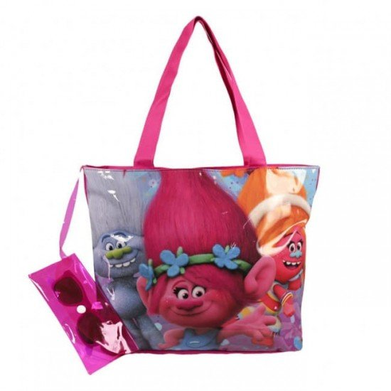 TROLLS плажна чанта с очила