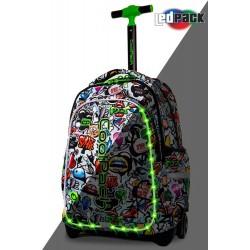 Cool Pack Светеща LED раница на колела Graffiti Junior