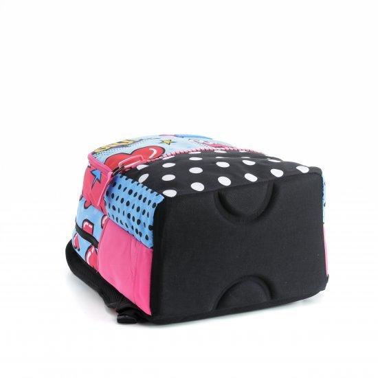 Ученическа ергономична раница Mitama Plus Pop Art, подарък 2бр блестящи глитери