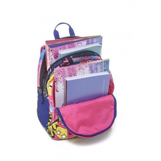 Ученическа ергономична раница Mitama Plus Roller Girl, подарък Шапка