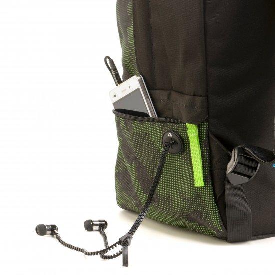 Ученическа раница Mitama Tag Modern Camu, подарък слушалки