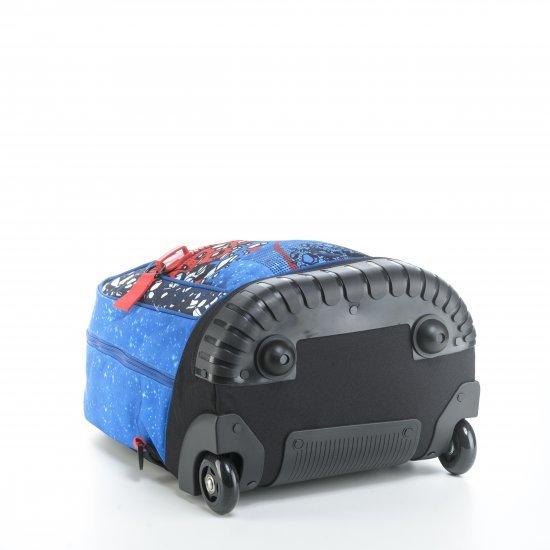 Ученическа раница на колела Mitama Trolley Run Space, подарък 2бр неонови глитери