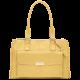 Дамска чанта с три прегради Caterina - пастелено жълта