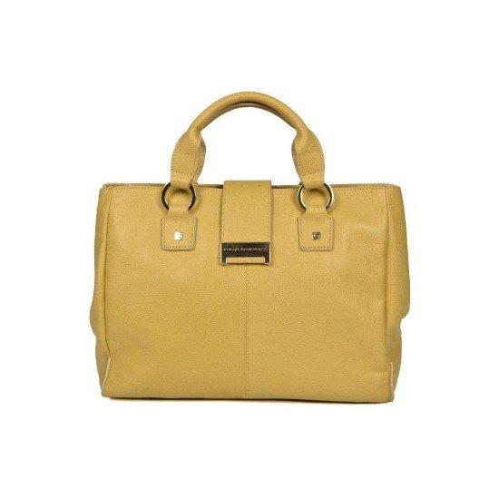 Дамска чанта  Caterina - пастелено жълта