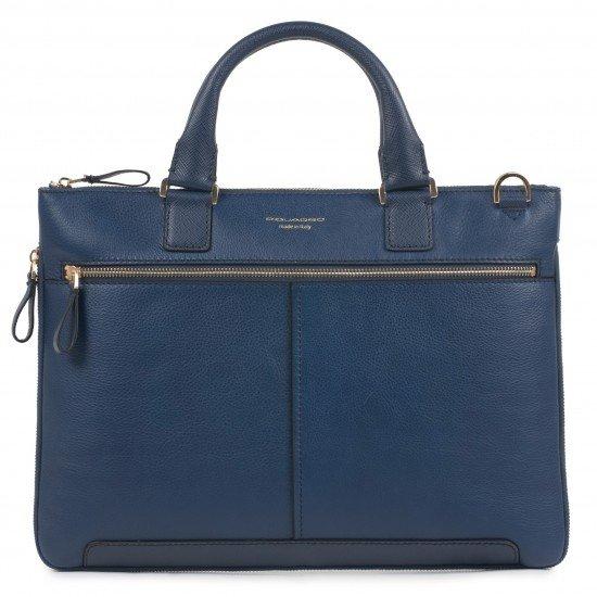 Бизнес чанта с разширение Archimede - тъмно синя
