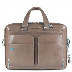 """Бизнес чанта за лаптоп 15"""" Blue Square - сива"""