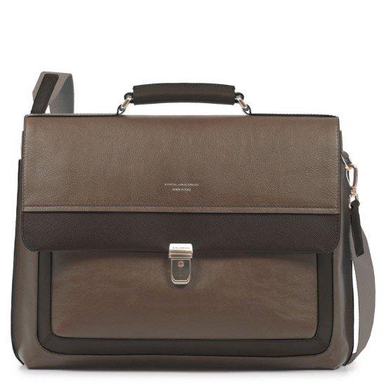 """Бизнес чанта за лаптоп 15.6"""" Archimede - кафява"""