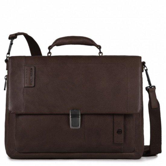 Бизнес чанта за документи P15 Plus - тъмно кафява