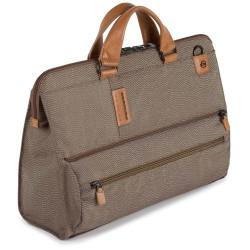 Бизнес чанта за лаптоп P16Plus - жълтокафява