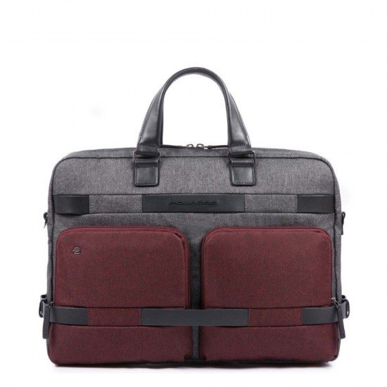 Бизнес чанта за документи Pierre - сиво-червена