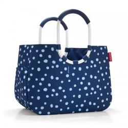 Чанта за пазаруване Reisenthel Райе L - Тъмно синя на точки