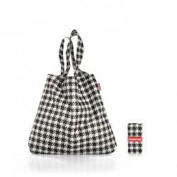 Чанта за пазаруване Mini maxi Reisenthel  Райе - Черно и Бяло