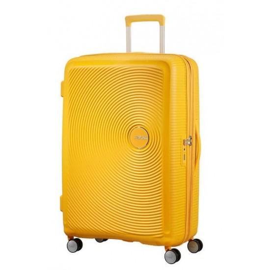 Куфар American Tourister Soundbox 77 см с разширение - жълт