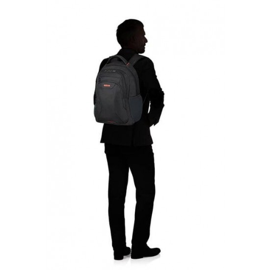 Раница American Tourister 39.6cм/15.6″ At Work - черен/оранжев