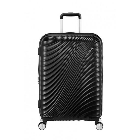 Куфар American Tourister Jetglam 67 см с разширение - черен