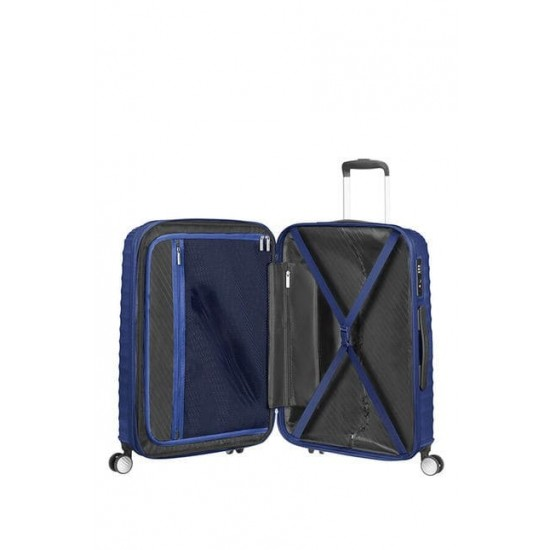 Куфар American Tourister Jetglam 67 см с разширение - син