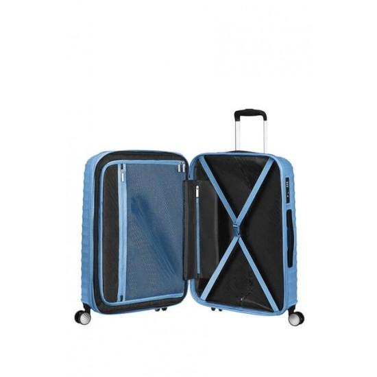 Куфар American Tourister Jetglam 67 см с разширение - светлосин