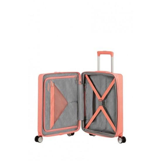 Куфар American Tourister Flylife 55 см с разширение - Корал