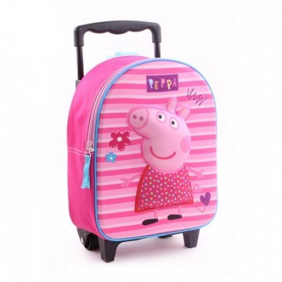 Раница за детска градина на колела 3D Peppa Pig Vadobag