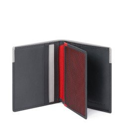 Kожен портфейл за документи Piquadro Urban - Сиво/Черно