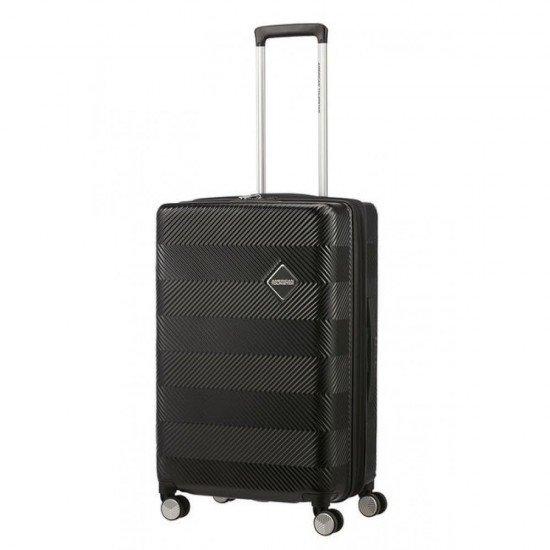 Куфар American Tourister Flylife 67 см с разширение - Черен