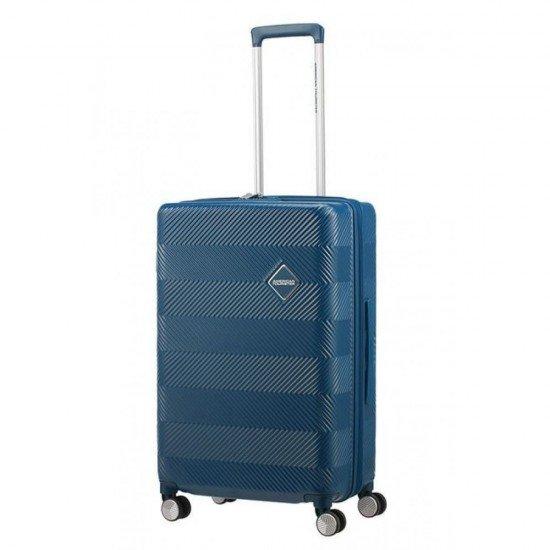 Куфар American Tourister Flylife 77 см с разширение - Синьо петрол