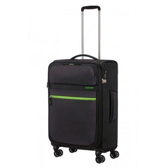 Куфар American Tourister MatchUP с разширение 67 см - Черен