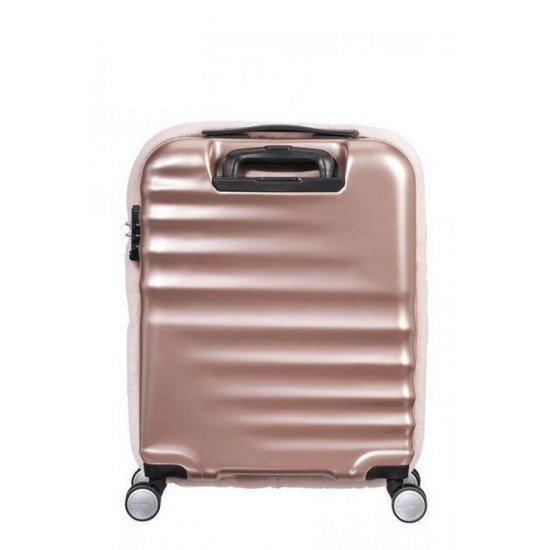 Куфар American Tourister Wavebreaker 55 см - Розов пастел
