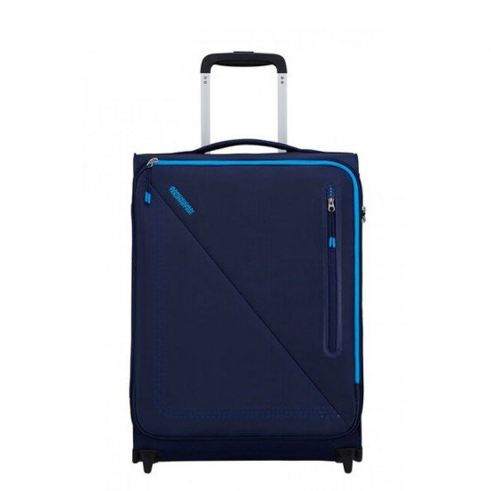Куфар на 2 колела American Tourister Lite Volt 55 см - Тъмно/Светло Синьо