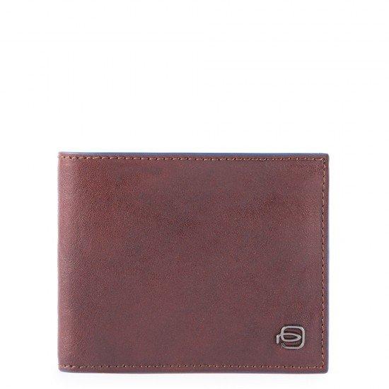 Мъжки портфейл с мобилен калъф Piquadro Blue Square - Кафяв