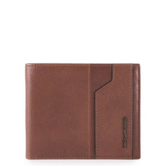 Мъжки портфейл с мобилен калъф Piquadro KOBE - Кафяв