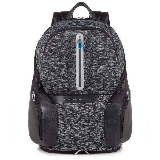 """Раница за лаптоп 14"""" с LED светлини Piquadro BagMotic - Черна"""