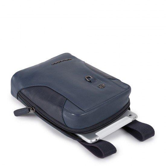 Вертикална чантичка за рамо с отделение за iPad MINI_ MINI 2_ iPad MINI 3 HAKONE - Синя