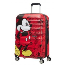 American Tourister куфар Wavebreaker Mickey Comics 77 см - червен