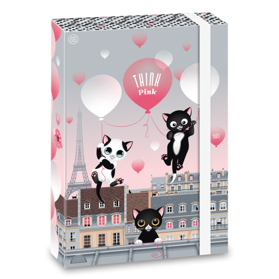 Кутия с ластик Ars Una Think Pink 20 А4