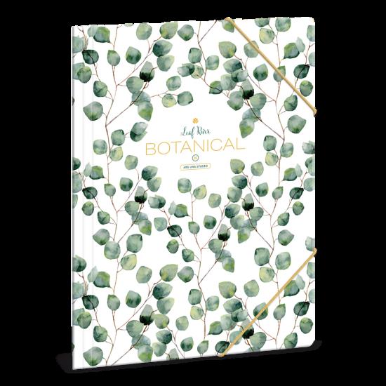 Папка с ластик Ars Una Botanic Leaf А4