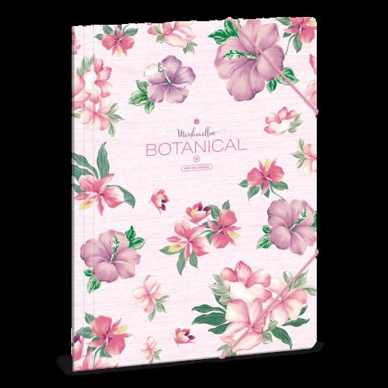 Папка с ластик Ars Una Botanic Mallow А4