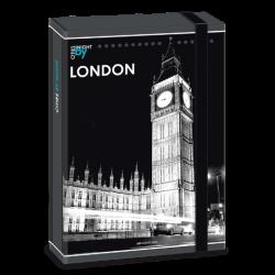 Ars Una кутия с ластик A4 London by night