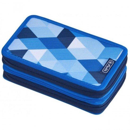 Несесер blue cubes 31части с 3 ципа пълен
