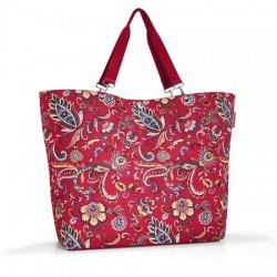 Разгъваема чанта за пазаруване Reisenthel Райе XL - Червена с мотиви