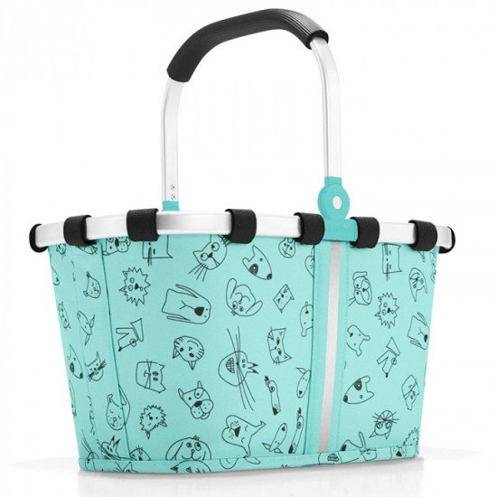 Детска кошница Reisenthel Carrybag XS Kids - Cats and Dogs Mint