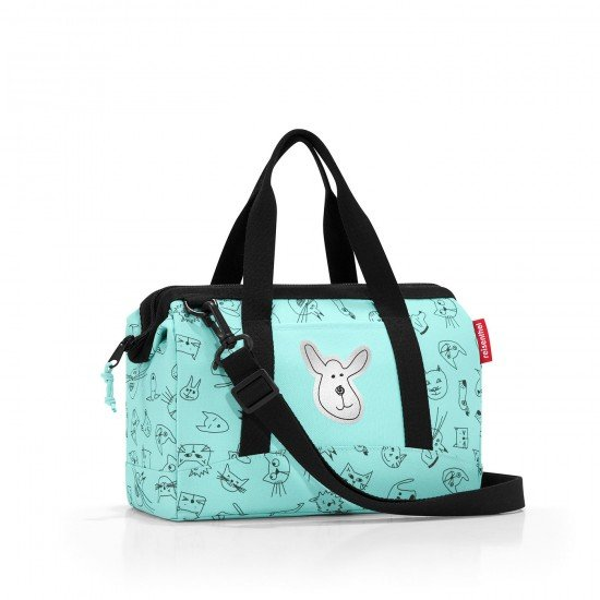 Пътна чанта Reisenthel Allrounder XS Kids - Cats and Dogs Mint