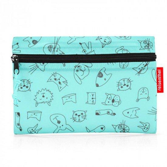 Пътна чанта Reisenthel Mini maxi Dufflebag S Kids - Cats And Dogs Mint