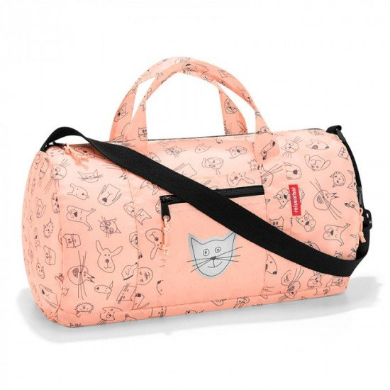 Пътна чанта Reisenthel Mini maxi Dufflebag S Kids - Cats And Dogs Rose