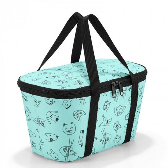 Термо чанта Reisenthel Coolerbag XS Kids - Cats and Dogs Mint