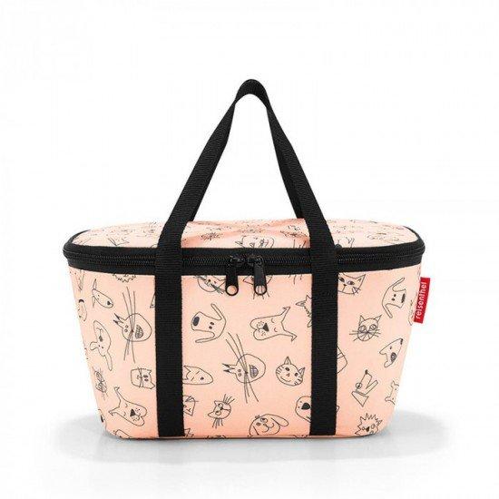 Термо чанта Reisenthel Coolerbag XS Kids - Cats and Dogs Rose