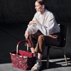 Чанта за пазаруване Reisenthel - Червена на цветя